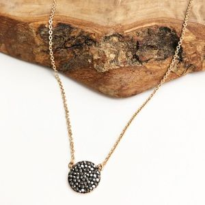 Express gold black gunmetal necklace